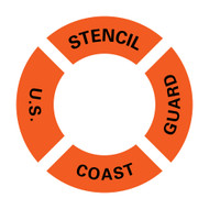 US Coast Guard Ring Buoy Stencil