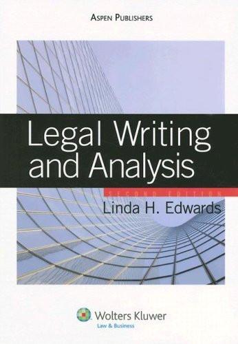 Writing a Legal Analysis