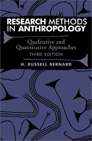 methods of research in anthropology Cultural anthropologists conduct fieldwork using their own senses and tools to document experiences and research with other  methods in cultural anthropology.
