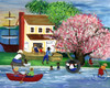 ISLAND FOLKS SUMMERTIME FUN FOLK ART PRINT