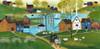Primitive Ocean Village of Yesteryear Print
