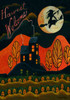 Harvest Welcome Folk Art Halloween Garden Flag Design 2