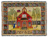 """Woven Throw Little Red School House 60"""" x 80"""""""