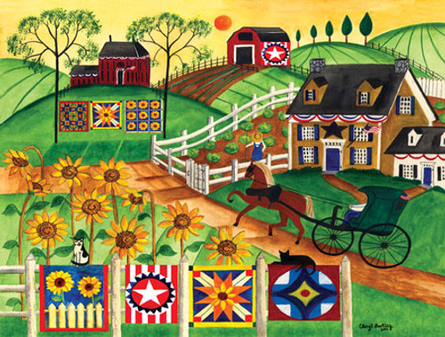 Country Sunflower Quilt Farm 300 masterpieces puzzle SOLD OUT