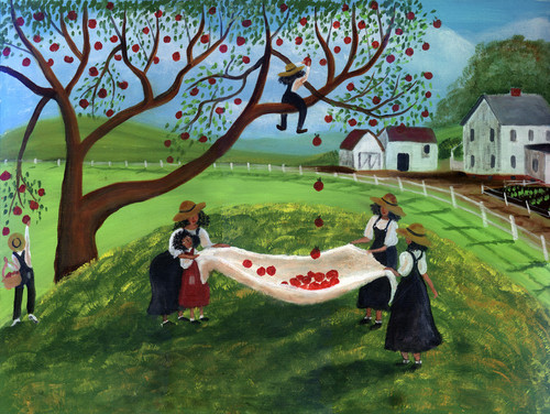 PRIMITIVE COUNTRY APPLE PICKERS