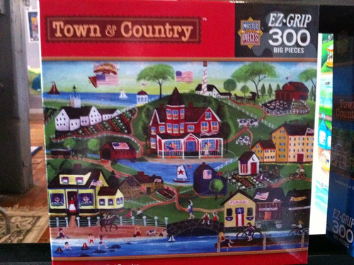 Summertime Fun at Red Farms Inn Folk Art Masterpieces Puzzle by Cheryl Bartley