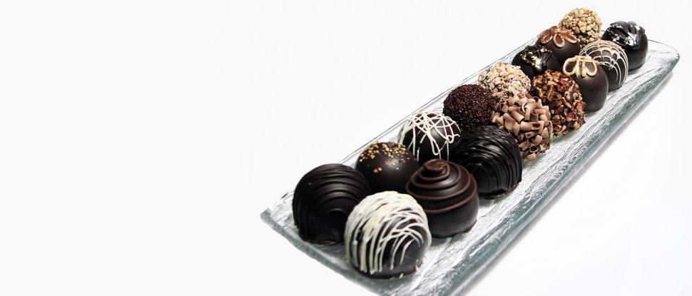 Dark chocolate truffles, a perfect dessert