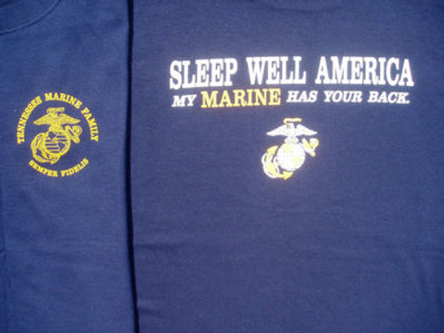Marine Corps Tennessee Marine Family USMC short sleeve and long sleeve shirts