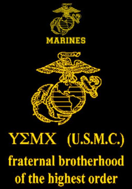 usmc fraternal brotherhood tshirt hard charger apparel