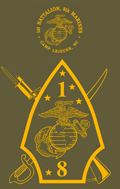 1st Battalion, 8th Marines T-shirt