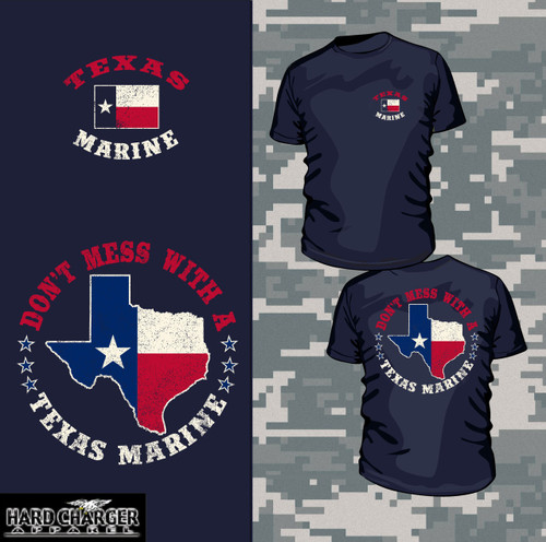Texas Marine Veteran Long Sleeve T-shirt