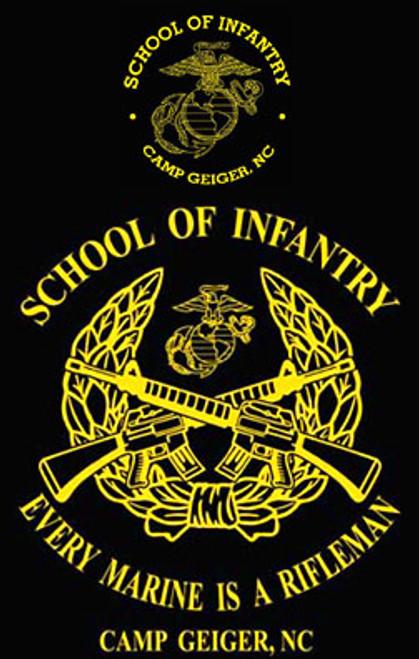 School of Infantry, Camp Geiger, NC T-shirt