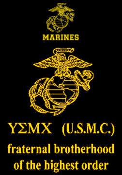 usmc fraternal brotherhood t shirt hard charger apparel