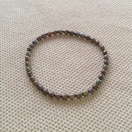 Steel Gray Rice-Pearl Stretch Bracelet