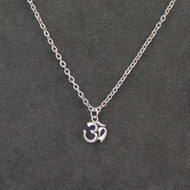 """Sterling Om symbol on stainless steel chain 18"""""""