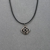 Celtic Knot Pendant on Black Leather Cord