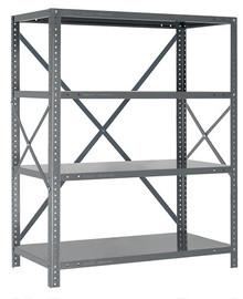 Steel Open Shelving - 18 Gauge - 39 Inch High 5 Shelves 12 x 36 (V18G-39-1236-5)