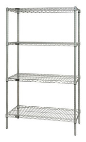 "54"" High Chrome Wire Shelving Units - 4 Shelves - 12 x 48 x 54 (VWR54-1248C)"