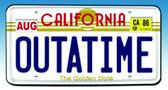 Back to the Future II OUTATIME License Plate Replica Figure Diamond 10109
