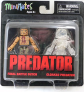 Minimates Predators Final Battle Dutch & Cloaked Predator figures Diamond 19341