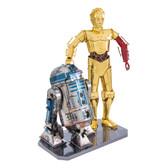 Metal Earth Star Wars C-3PO & R2-D2 3D Metal  Model + Tweezer 17106