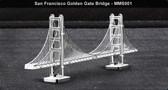 Metal Earth San Francisco Golden Gate Bridge 3D Metal  Model + Tweezers 010015