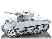 Metal Earth Sherman Tank 3D Metal  Model + Tweezer  012040