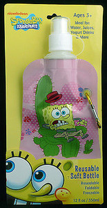 Shark Skinzz Spongebob Cactus Reusable Folding 12 oz bottle 010711