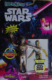 Star Wars Bend Ems C-3PO figure Just Toys 23627
