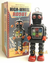 Tin Toys High Wheel Robot ms436 wind up Schylling 217106