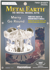 Metal Earth Merry Go Round 3D Metal  Model + Tweezers  10893