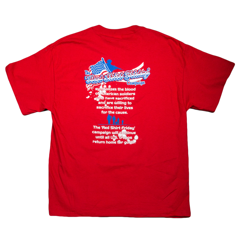 Red Friday Support Our Military T Shirts 25 75 | Dog ...