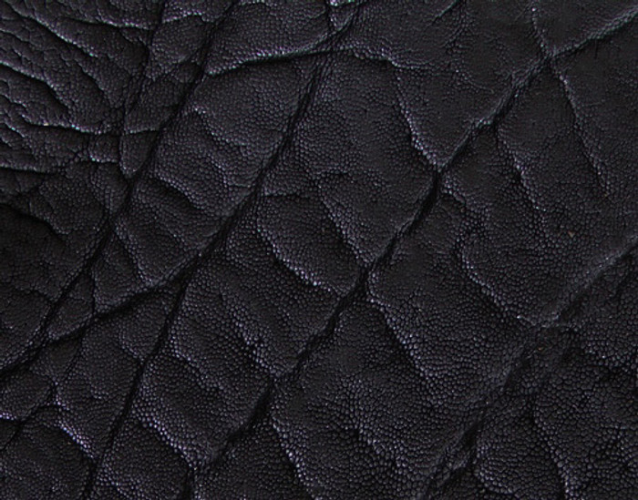 Genuine Elephant Skin - Matte Finish in Black