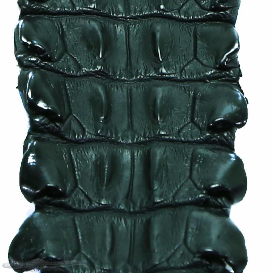 Nile Crocodile Backstrap - Black Matte