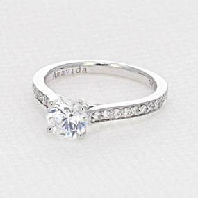 Pave Engagement Ring (AV01)