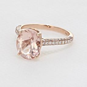 Rose Gold Morganite Engagement Ring (R922-4)