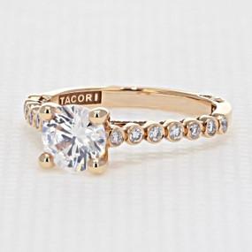 Tacori Sculpted Crescent Rose Gold Engagement Ring (200-2RD65PK)