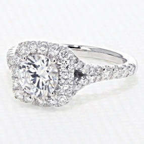 Halo Micro Prong Engagement Ring (AV21)