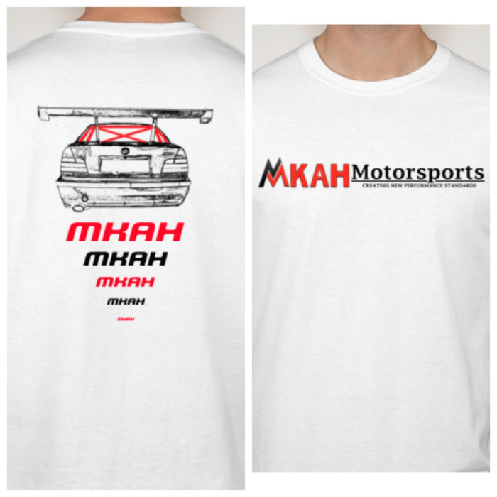 MKAH Motorsports Official T-shirt (white)