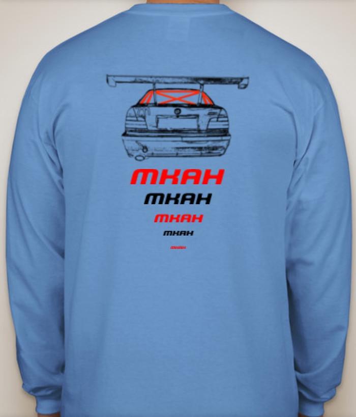Official MKAH Motorsports Long Sleeve T-shirt (blue)