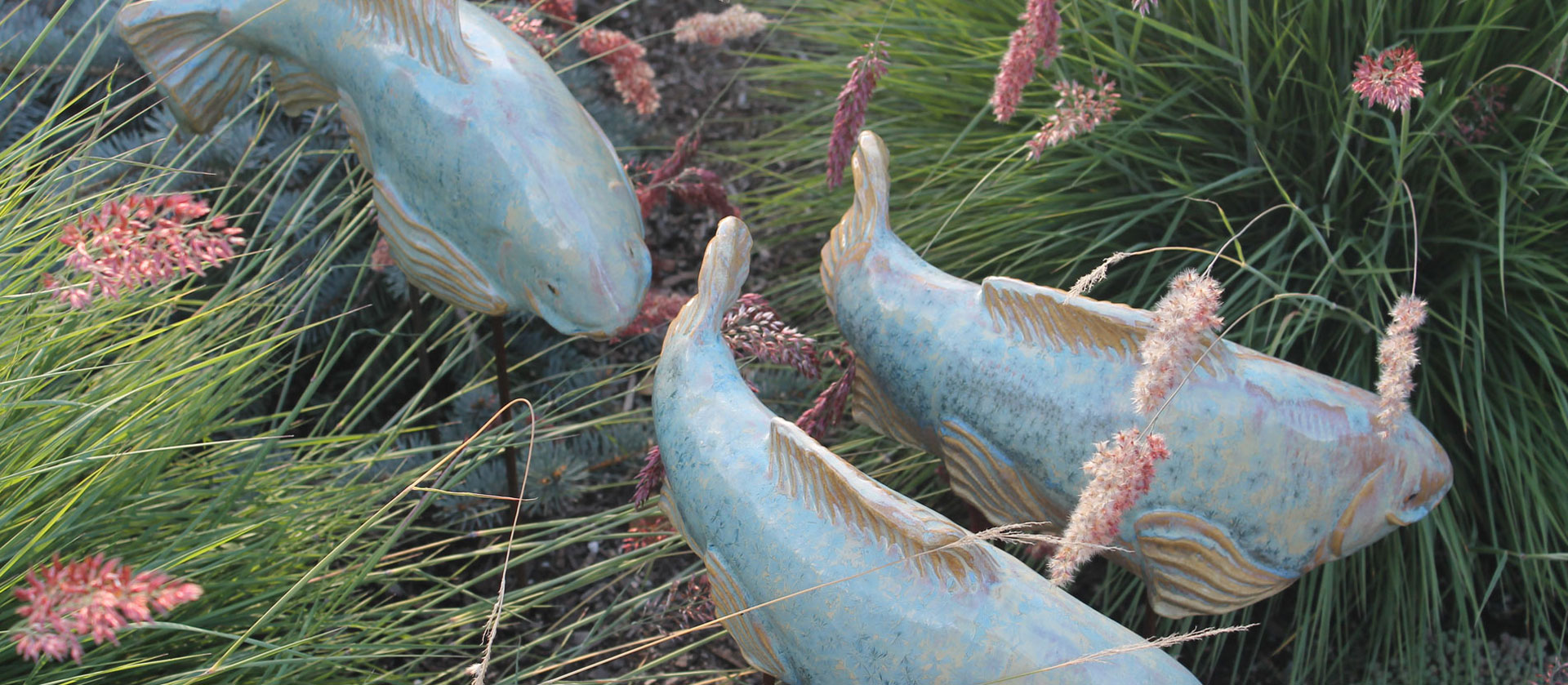 Shop garden art find garden sculpture buy fish garden art for Garden fish