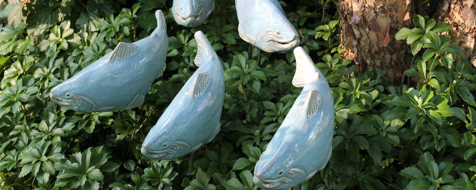 Shop Garden Art Find Garden Sculpture Buy Fish Garden Art