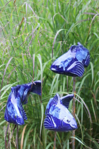 Little Fishies - cobalt blue