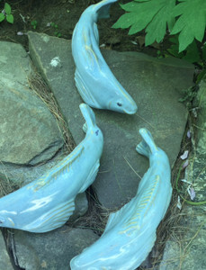 Set of 3 Sky Blue Fishies - 2nd Quality