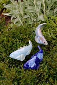 Set of 3 Small Blue Koi