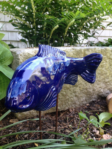 Cobalt koi garden art fish in the garden llc for Fish garden statue
