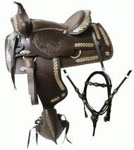 "16"", 17"" Double T Western Parade Saddle Set"