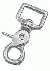 "0.75"" x 2.5"" scissor snap with square end eye."