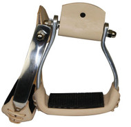 Showman Lightweight Angled Aluminum Stirrups With Rubber Grip Tread