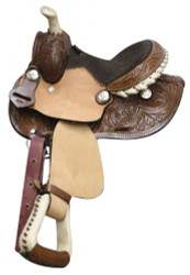 "8"" Double T Pony/ Youth Saddle with Round Skirt"